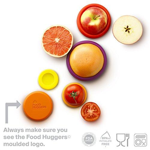 Food Huggers Set of Five Reusable Silicone Food Savers Autumn Harvest