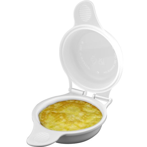 Microwave Egg Maker a Healthy Breakfast Cooking Utensil by Chef Buddy- Kitchen Essentials Easy to Make- Holds Up to Two Eggs and Cooks in 45 Seconds