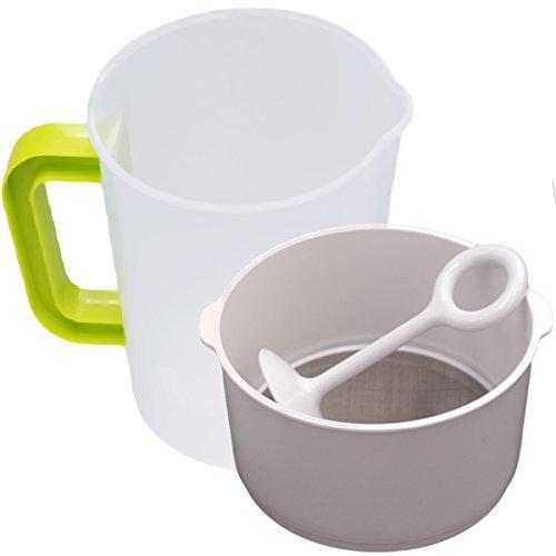 Nut Milk Greek Yogurt Strainer - Stainless Steel Filter - Soy Milk Strainer - Nut Milk Bag Alternative - Reusable Nut Milk Maker