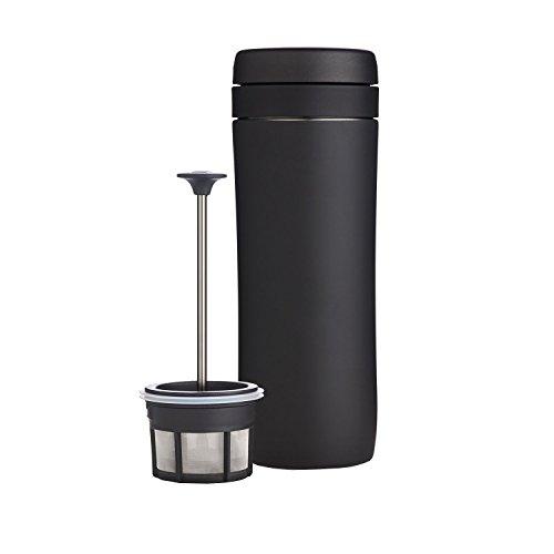 Espro Travel Coffee Press Stainless Steel 12 oz Coffee Filter Matte Black