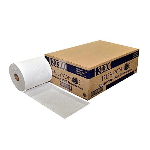 Response 30300 22 Dispenser Hardwound Roll Towel 800 Length x 8 Width White Pack of 6