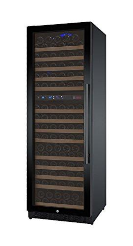 Allavino FlexCount VSWR172-2BWLN 172 Bottle Dual-Zone Wine Cellar Refrigerator Black Door Left Hinge