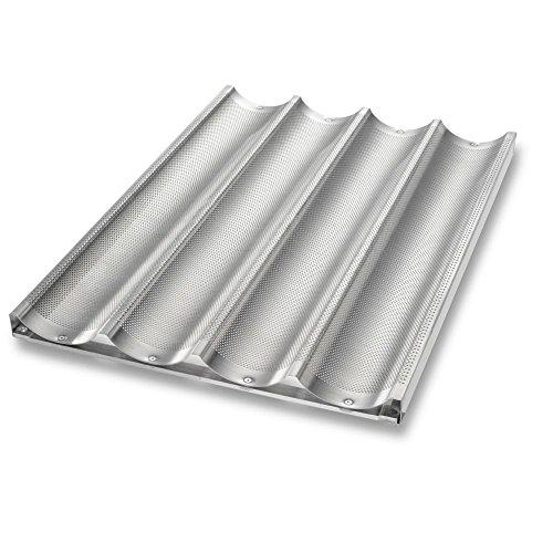 Chicago Metallic Uni-Lock Perf Aluminum 4-Mold Baguette Pan