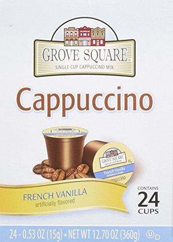 Grove Square Cappuccino Cups French Vanilla Single Serve Cup