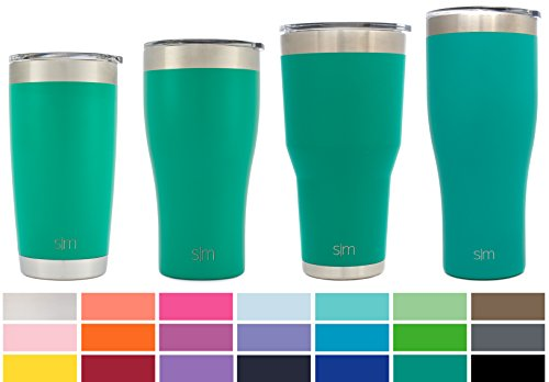 Simple Modern 22oz Slim Cruiser Tumbler - Vacuum Insulated Double Wall 188 Stainless Steel Hydro Trazel Mug - Coffee Cup Flask - Emerald