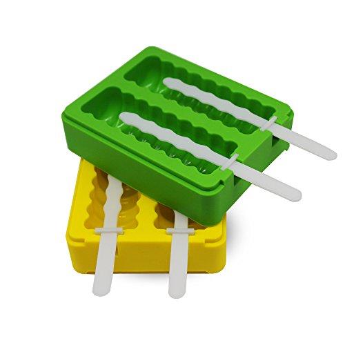 Popsicle Molds Ice Pop Molds Maker - Set of 2