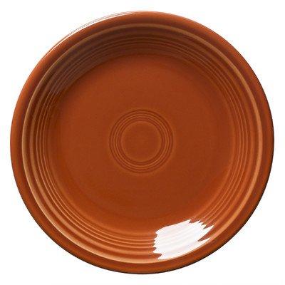 Fiesta Dinnerware 9-in Luncheon Plates Paprika Orange Set of 4
