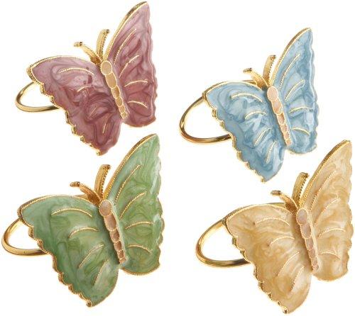 Lenox Butterfly Meadow Napkin Rings Set of 4 Multi