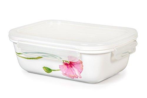Lock Lock Ceramic Bowl Rectangular Large 920ml  31oz Sophie Pattern Oven Microwave and Diswasher Safe