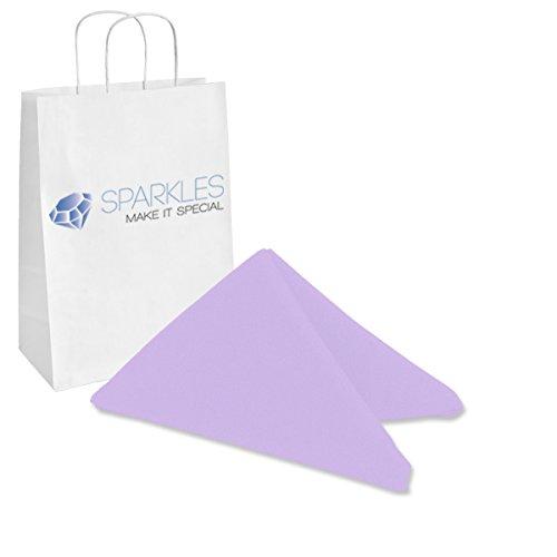 Sparkles Make It Special 100-pcs 17 x 17 Inch Polyester Cloth Napkins Wedding Party Banquet Restaurant Linen Lavender