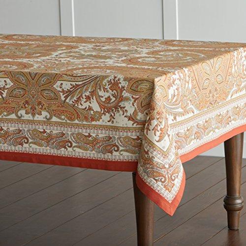 Maison d Hermine Kashmir Paisley 100 Cotton Tablecloth 60 - inch by 120 - inch