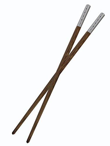 1 Pair Mozentea High Quality Totally Natural Wenge Wood Chopsticks CKZ01 1 Pair Silver