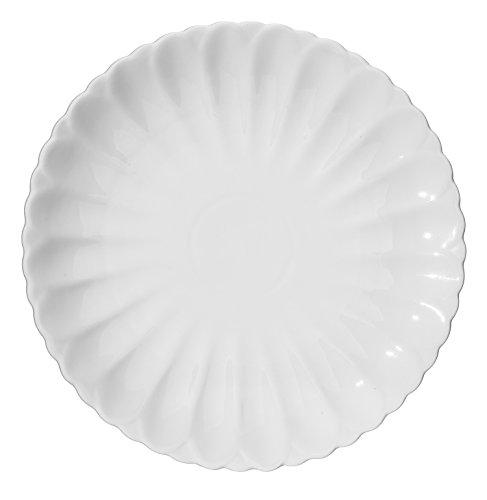 DOWAN 4 Packs Porcelain Dinner Plates White 11-12 Inch