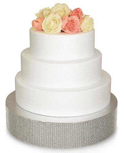 Bling Wedding Cake Stand  Drum 18 Round Silver