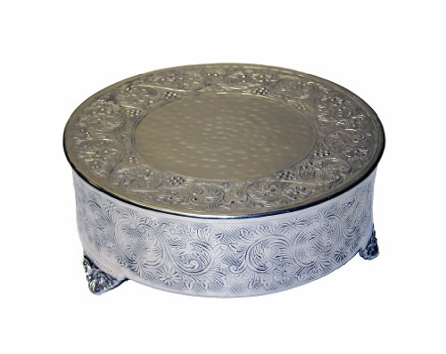GiftBay Creations 743-20RAMA Wedding Round Cake Stand 20-Inch Silver