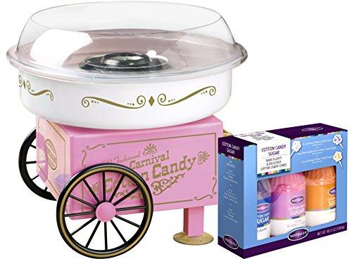 Nostalgia PCM305BUN Hard Sugar-Free Hard Candy Cotton Candy Maker - Bonus Bundle