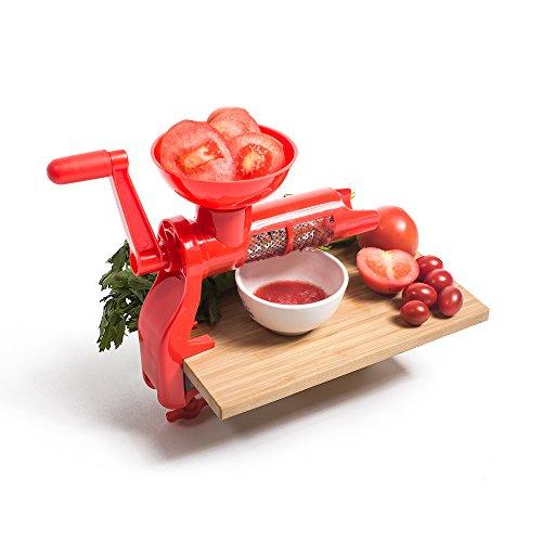 Tomato Juicer Manual Mill - Tomato Press Sauce Maker Easy for Purees - No Coring Peeling or Deseeding