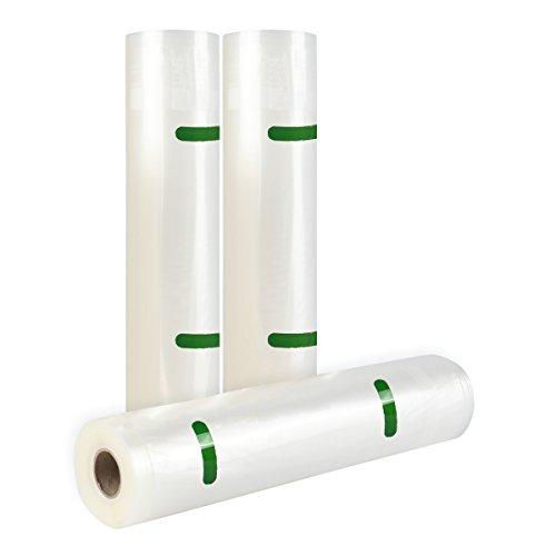 TAILI Commercial Vacuum Sealer Rolls Large 3 Pack 11 Storage Saver Bags Great for Sous Vide FoodSaver Microwave Freezer Safe Fits Inside Machine