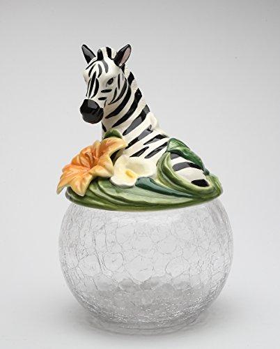 Cosmos Gifts 10804 Zebra Glass Cookie Jar