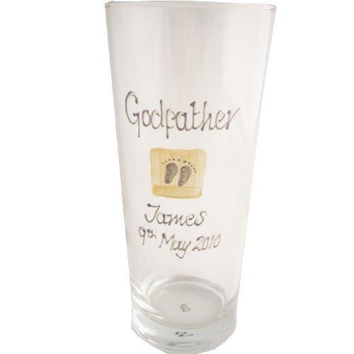 Personalized Godfather Gift Pint GlassCreamMAXIMUM CHARACTERS 25