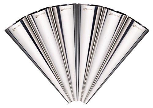 Set of 6 Stainless Steel Cream Horn Molds