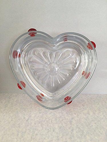 Heart Glass Candy Dish