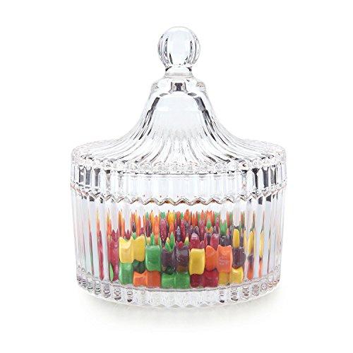 Rachels Choice Glass Covered Storage Jar Candy Dish Box Diameter 39