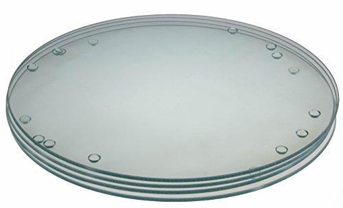 "Premium Circular Tempered Glass Cutting Board Bundle 4 Pack - 9.75"" Diameter"