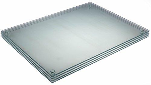 """Premium Tempered Glass Cutting Board Bundle 4 Pack - 11.75"""" X 11.75"""""""