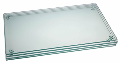 """Premium Tempered Glass Cutting Board Bundle 4 Pack - 7.75"""" X 11.75"""""""