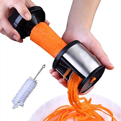 Brosloth Stainless Steel Spiral Slicer Vegetable Spiralizer Handheld Cutter Pasta Noodle Spaghetti