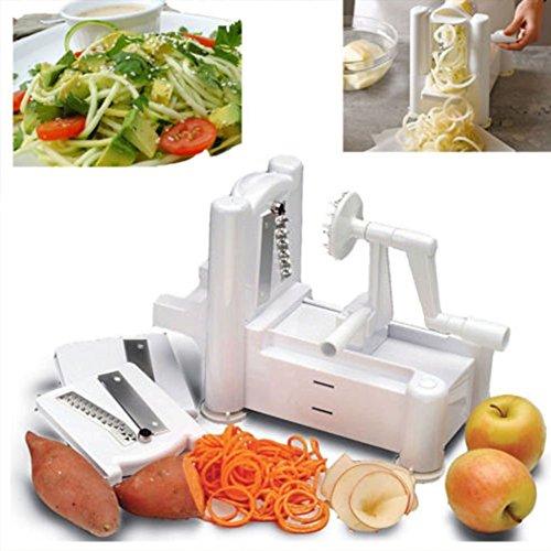 Hot Bestseller Slicers Tri-Blade Vegetable Spiral Slicer Spiralizer Veggie Cutter Spaghetti Pasta Maker