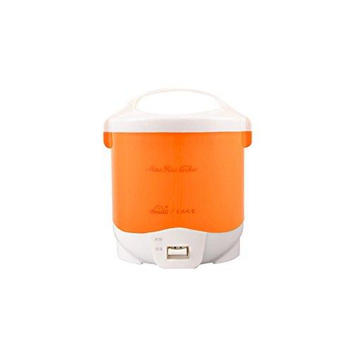 Onezili 110V jx2 portable travel Electric heating lunch box Mini rice cooker 15liter orange