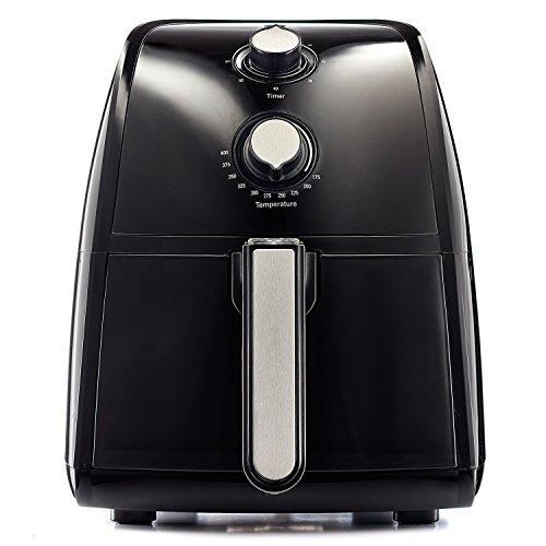 BELLA 14538 1500W Electric Hot Air Fryer with Removable Dishwasher Safe Basket 25 L Black