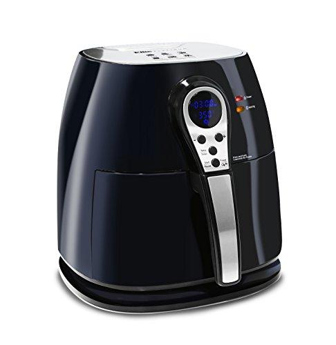 Elite Platinum 32 Quart Electric Digital Air Fryer Cooker 1400-Watts with 26 Full Color Recipes Black