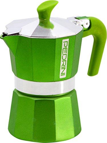 Pedrini 2 Cups Espresso Coffee Pot Green Colour