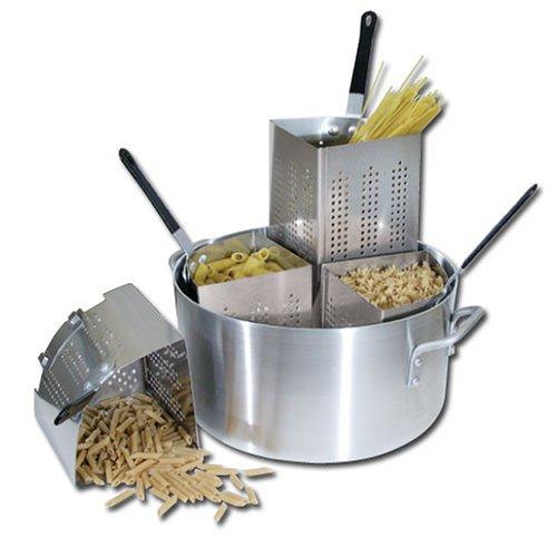 Winware 20 Qt Aluminum Pasta Cooker, Commercial Grade
