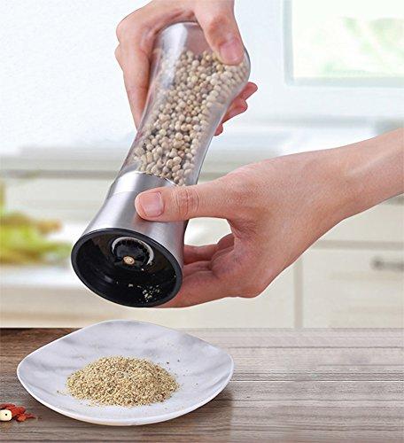 Frjjthchy Stainless Steel Salt Pepper Grinder Manual Adjustable Ceramic Grinding Spice Mill