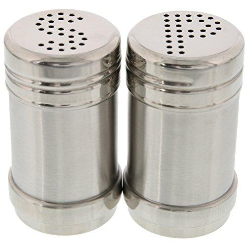 Salt and Pepper Shakers - Modern Kitchen Stainless Steel Salt and Pepper Shakers - 35 Inch