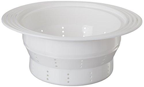 "Siliconezone 12.6"" Silicone Collapsible Pasta Insert/colander/steamer, White"