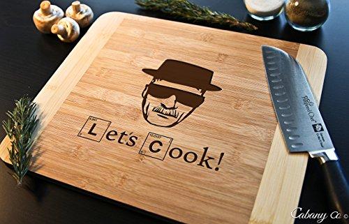 Cutting Board Engraved Bamboo Chopping Block HDS - Breaking Bad Heisenberg