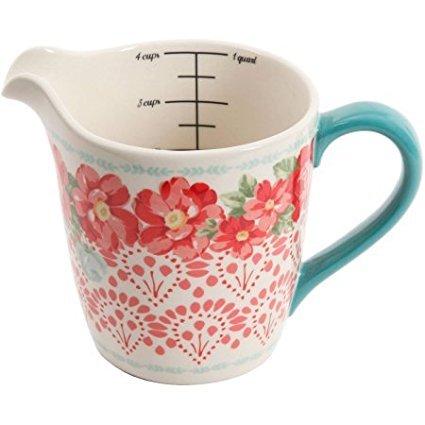 Vintage Floral 4-Cup Measuring Cup Easy to Read Measurement Lines