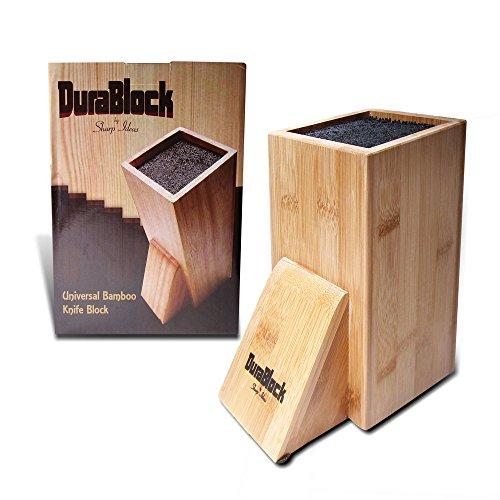 Sharp Ideas DuraBlock Universal Bamboo Kitchen Knife Block