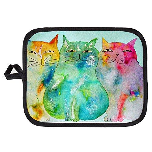 CafePress - Haleiwa Cats 250 - Pot Holder Heat Resistant Fabric Trivet