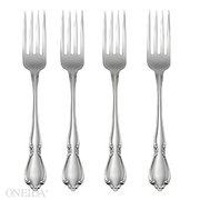 Oneida Chateau Fine Flatware Set 188 Stainless Set of 4 Dinner Forks