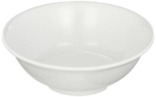 Carlisle 4373702 Melamine Footed Serving Bowl 24 fl oz Capacity 7-38 Dia X 2-58 H White Case of 12