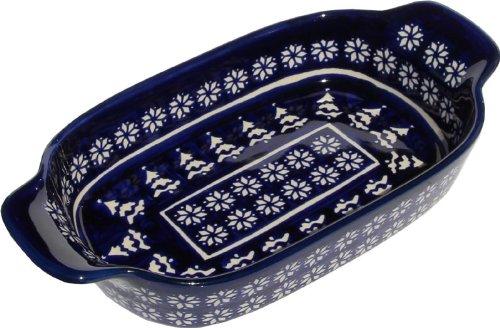 Polish Pottery Rectangular Serving Dish From Zaklady Ceramiczne Boleslawiec 1281-243a Length 10 Width 525