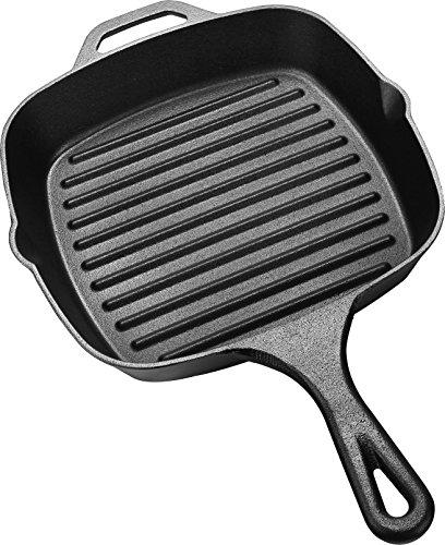 Utopia Kitchen Pre-Seasoned Cast-Iron Square Grill Pan 105-inch
