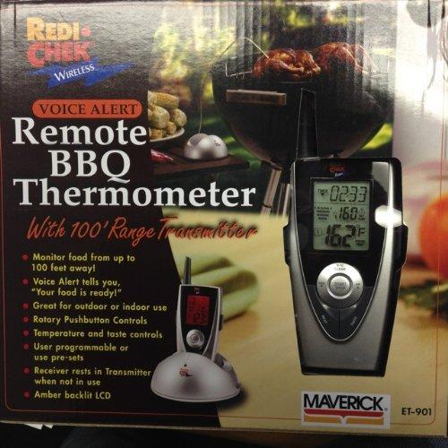 Maverick Remote Wireless BBQ Thermometer Wvoice Alert  Food Magnet