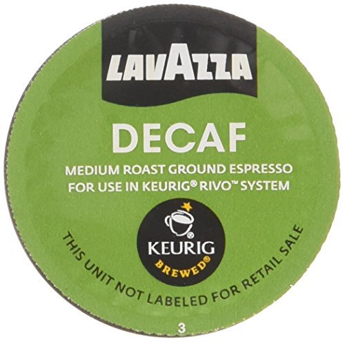 Lavazza Decaf Espresso Packs for Keurig Rivo Systems476 ozPack of 4